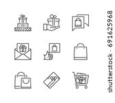 outline icons about gits and... | Shutterstock .eps vector #691625968