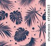 tropical seamless pattern.... | Shutterstock .eps vector #691630615