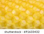 honeycomb empty cells as... | Shutterstock . vector #691633432