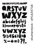 vector set of black funky... | Shutterstock .eps vector #691635718