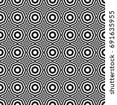 seamless pattern with black... | Shutterstock .eps vector #691635955