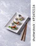 Mini Rice Sushi Burgers With...