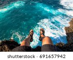 hanging legs   adventure time... | Shutterstock . vector #691657942