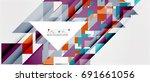 triangle pattern design... | Shutterstock . vector #691661056