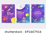 huge universe  vector brochure... | Shutterstock .eps vector #691667416