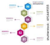 business infographics  strategy ... | Shutterstock .eps vector #691669555