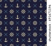 maritime mood  seamless... | Shutterstock .eps vector #691671196