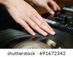 hip hop party dj scratch record ... | Shutterstock . vector #691672342