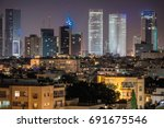 tel aviv financial district... | Shutterstock . vector #691675546