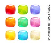 colorful glossy square buttons...