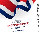 costa rica independence day. 15 ... | Shutterstock .eps vector #691679332
