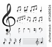 collection of music note symbols | Shutterstock .eps vector #691680826