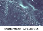 data technology abstract... | Shutterstock . vector #691681915