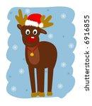 reindeer | Shutterstock .eps vector #6916855