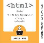 hiring programmer  developer  a ...   Shutterstock .eps vector #691693768