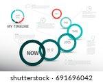 vector infographic timeline... | Shutterstock .eps vector #691696042