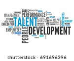word cloud with talent... | Shutterstock . vector #691696396