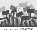 silhouette crowd of people... | Shutterstock .eps vector #691697836