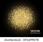 sparkling background  golden... | Shutterstock .eps vector #691699078