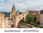 cluny abbey in france ... | Shutterstock . vector #691699342