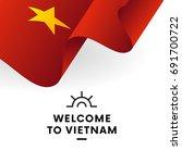 welcome to vietnam. vietnam... | Shutterstock .eps vector #691700722