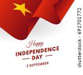 vietnam independence day. 2... | Shutterstock .eps vector #691701772