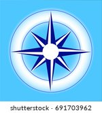icon rose of wind in blue... | Shutterstock .eps vector #691703962