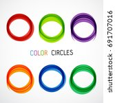 color circles set | Shutterstock .eps vector #691707016