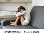 stop violence in children help... | Shutterstock . vector #691711006