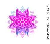 vector glowing geometric... | Shutterstock .eps vector #691711678