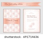 luxury wedding invitation... | Shutterstock .eps vector #691714636