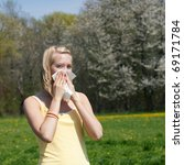 Woman With A Flu Or An Allergy...