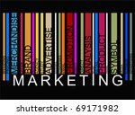 colorful marketing text barcode  | Shutterstock .eps vector #69171982