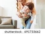 family  child and motherhood... | Shutterstock . vector #691733662