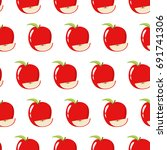 seamless pattern with fresh and ... | Shutterstock .eps vector #691741306