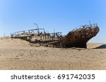 shipwreck eduard bohlen  ... | Shutterstock . vector #691742035
