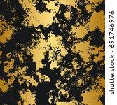 golden and black seamless... | Shutterstock .eps vector #691746976