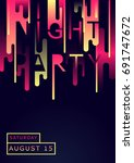 poster for night party in... | Shutterstock .eps vector #691747672