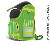 empty open school satchel. a... | Shutterstock .eps vector #691750378