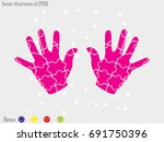 hand puzzle  icon  vector... | Shutterstock .eps vector #691750396