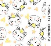 Pattern Of Print Cat Desig
