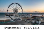 the victorian brighton pier and ... | Shutterstock . vector #691771216