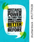 mistakes have the power to turn ... | Shutterstock .eps vector #691775428
