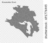 high quality map of krasnodar... | Shutterstock .eps vector #691776445