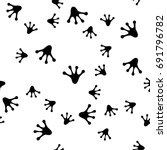 The Seamless Pattern With Blac...