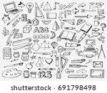school items   Shutterstock .eps vector #691798498