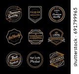 set of vintage quality product... | Shutterstock .eps vector #691799965