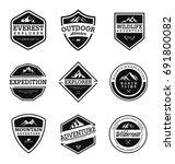 mountain   outdoor adventure... | Shutterstock .eps vector #691800082