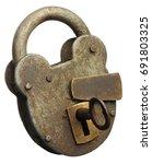 An Old Padlocked Locked Shut...