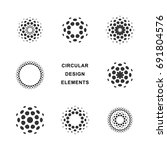 set of abstract circular... | Shutterstock .eps vector #691804576